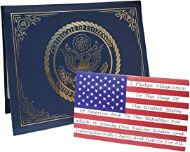 Best US Citizenship certificate holder with Welcome American greeting gift card Review