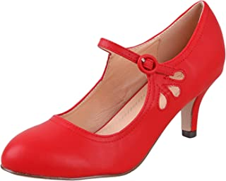 4f2751e5eb7 Amazon.com: Red Women's Pumps & Heels