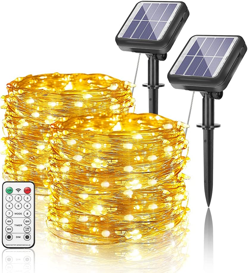 Solar Fairy String Max 78% OFF Lights Outdoor Pack Each Max 66% OFF 2 Waterproof DHWELEC