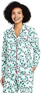 Lands' End Women's Petite Long Sleeve Print Flannel Pajama Top