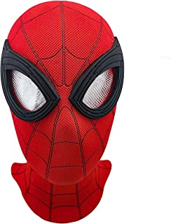 Spider-Man Mask Replica for Far From Home 2019-Led Spider Man Full Head Mask Adult Red with Mesh Eye