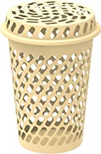 Cosmoplast Tall Laundry Bin with Lid - Ivory