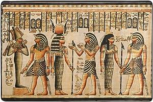 ingbags Vintage Egipto Arte salón comedor alfombra 3x 2pies cama habitación alfombra oficina alfombra moderno piso alfombra alfombras decoración del hogar, multicolor, 3 x 2 Feet