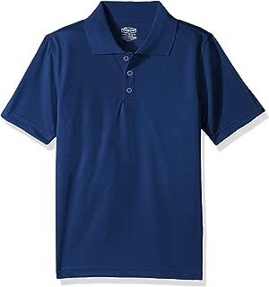 Classroom School Uniforms Boys' Big Youth Unisex Moisture-Wicking Polo Shirt, sos Royal Blue, L