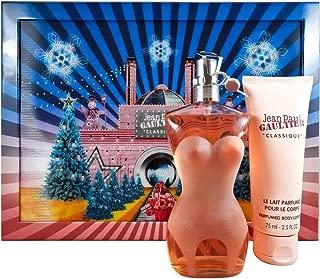 Jean Paul Gaultier Classique for Women 2 Piece Gift Set (3.4 Ounce Eau de Toilette Spray + 2.5 Ounce Perfumed Body Lotion)