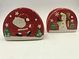 Cermanic Christmas Snowman/Santa Napkin Holder (Assorted)