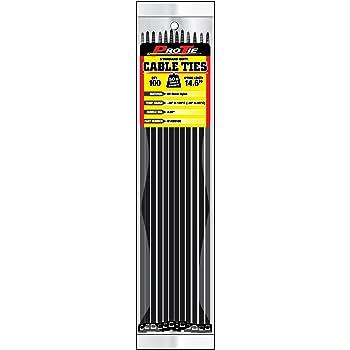 Pro Tie B14SD100 14.6-Inch Standard Duty Cable Tie, UV Black Nylon, 100-Pack