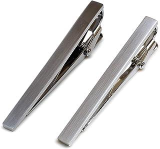 [タバラット] ネクタイピン 2本セット タイピン メンズ 日本製 真鍮 サテーナ加工 ワニロ式