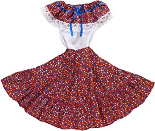 Mexican Clothing Co Girls Mexican Adelita Costume Blouse n Skirt Poplin