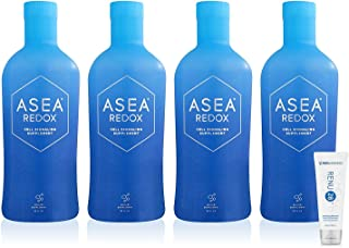ASEA REDOX Cell Signaling Supplement + Renu28 Sample (four 32oz bottle + one 10mL)