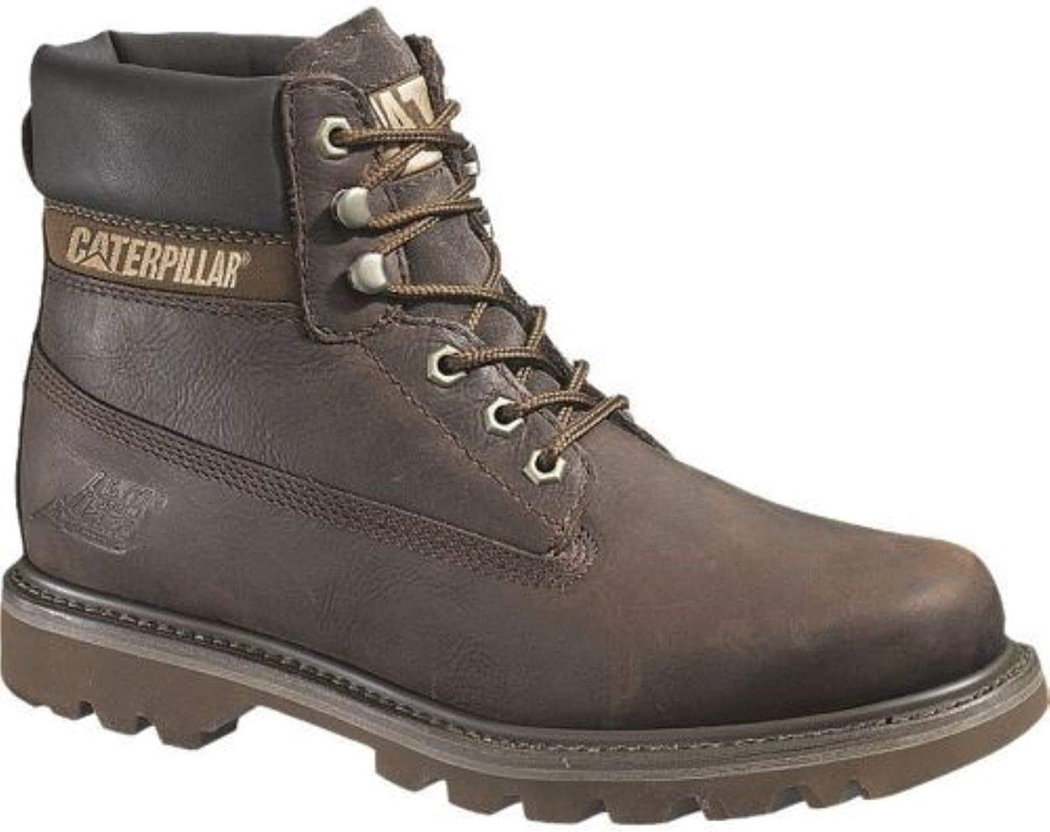 Caterpillar colorado Mens Chocolate Brown Leather Upper Lace Up Ankle Boots