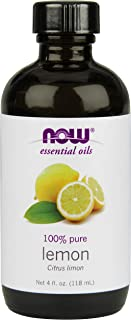 Now Foods Essential Oil, Lemon, 4 Fluid Ounce (Pack of 2)