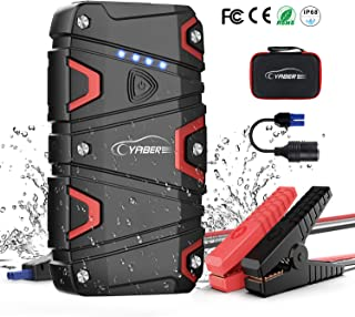 Jump Starter - YABER 1200A Peak 15000mAh Car Jump Starter (up to 7.5L Gas/6.0L Diesel) 12V Waterproof Portable Jump Start Battery Pack with QC3.0 Outputs,Type-C Port,LED Flashlight Car Booster Charger