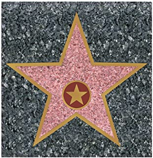 Hollywood STAR Party Decor Peel 'N Place Decal