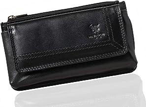 MATADOR Handy-Tasche Gürteltasche Leder Quertasche mit Gürtelschlaufe Universal für Handys bis 6,9 Zoll Schwarz