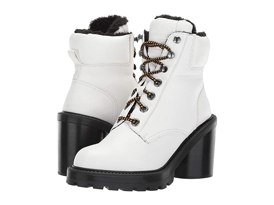Marc Jacobs Crosby Hiking Boot with Faux Shearling Lining (White) Women