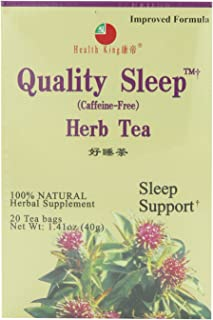 Health King Quality Sleep Herb Tea, Teabags, 20-Count Box (Pack of 6)