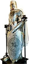 Templar Knight Suit of Armor Completely Wearable Spanish Costume Crusader Silver
