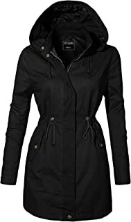 TOP LEGGING TL Women's Militray Anorak Parka Hoodie Jackets with Drawstring