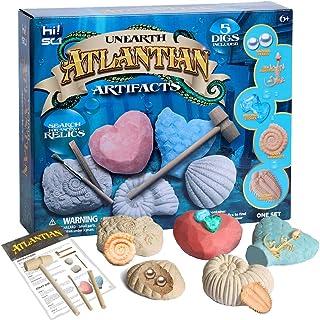hi!SCI Atlantis Gemstones Dig Kit Pearls Fossils Excavation Kit Break Into 5 Ocean Mermaid Treasure Bricks - Great Educati...