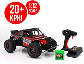 RC CHARGERS Growler Remote Controlled Off Road Truck, 1:12 Scale | Polycarbonate Body, Rugged Suspension, Off-Road Capable, 2.4GHz, Pistol Grip Control | 9.6v Battery and Charger Included