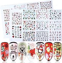 Christmas Nail Art Stickers,Vanten 3D Self Adhesive Nail Stickers Santa Reindeer Xmas Tree Bells Snowflakes Snowman Decals for Women Girls Kids Manicure DIY Nail Salon (more than 1000Pcs)