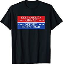 Political Protest Keep America Great Deport Ilhan Omar T-Shirt