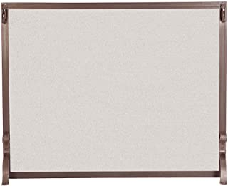 Pilgrim Home and Hearth, Burnished Bronze 18286 FGN Series Forged Iron Fireplace Screen, 44″W x 33″H, 25 lbs