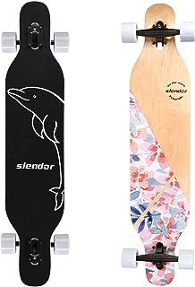 Slendor Longboard Skateboard 42 inch Drop Through Deck Complete Maple Cruiser Freestyle,..
