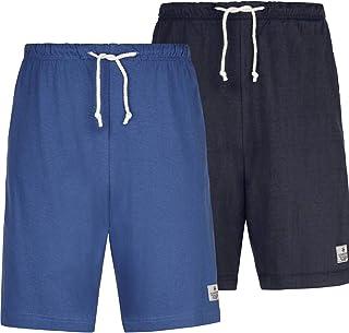 Jan Vanderstorm Charle Men's Pack of 2 Sleep Shorts (Short Sleeping Bottoms)