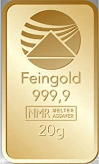Gold 20 g 20 g Gram Credit Card Format Fine Gold 999.9 Individually Packed Nadir Gold LBMA Certified