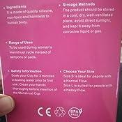 CROING 4 Copas Menstruales - 2 Piezas Pequeña y 2 Piezas Grande - Menstrual Cup (Morado y Blanco)