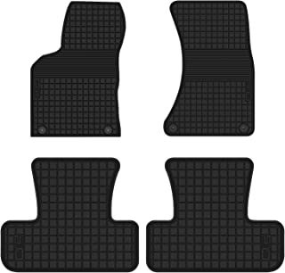 HD-Mart Car Floor Mat Rubber for Audi Q5 2017 2016 2015 2014 2013 2012 2011 2010 2009 Custom Fit Full Black Auto Floor Mats All Weather Heavy Duty & Odorless