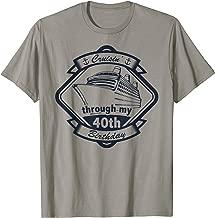 Nautical 40th Birthday Cruise Gift T-Shirt
