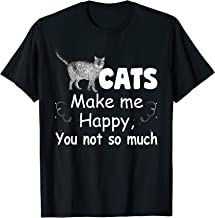 Cats Make Me Happy You Not So Much T-Shirt