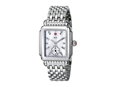Michele Deco Mid Diamond Dial Watch (Silver) Watches