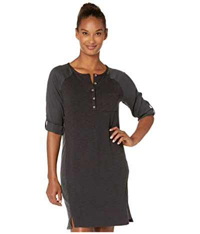 Prana Hensley Henley Dress (Charcoal) Women