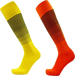 mens Kids football socks youth high soccer socks sports towel bottom 1/4/5 Pair