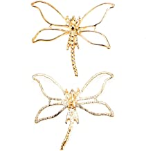 Monrocco 15 pcs Gold Dragonfly Charms Hollow Charms Open Bezel Charms for Resin