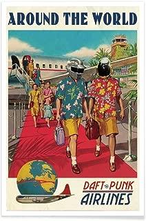Design Get Lucky ! Format : Portrait Tirages dart /& Tableaux par des Artistes ind/épendants cr/é/é par Ads Libitum Juniqe/® Affiche 20x30cm Daft Punk Musique - Poster