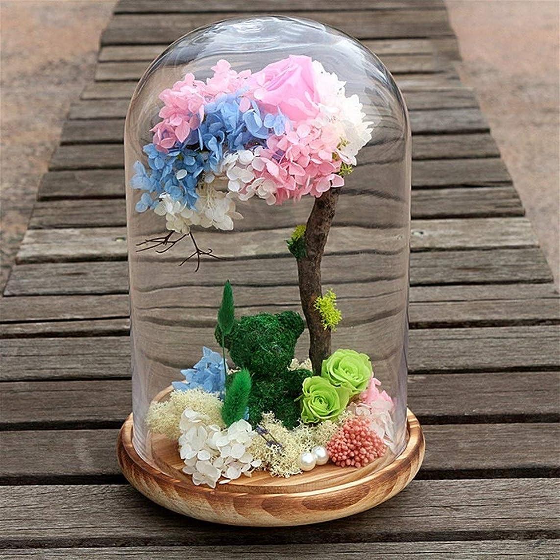 オゾン雲ポジティブ永遠の花 美女と野獣バラ、マジックローズ、手作りのガールフレンドのための花、バレンタインデー、母の日、誕生日プレゼント、クリスマス、ギフトラスティングパーフェクトシルクローズやガラス、花バラ、ロングを作成します 友人や母親へのクリスマスプレゼント