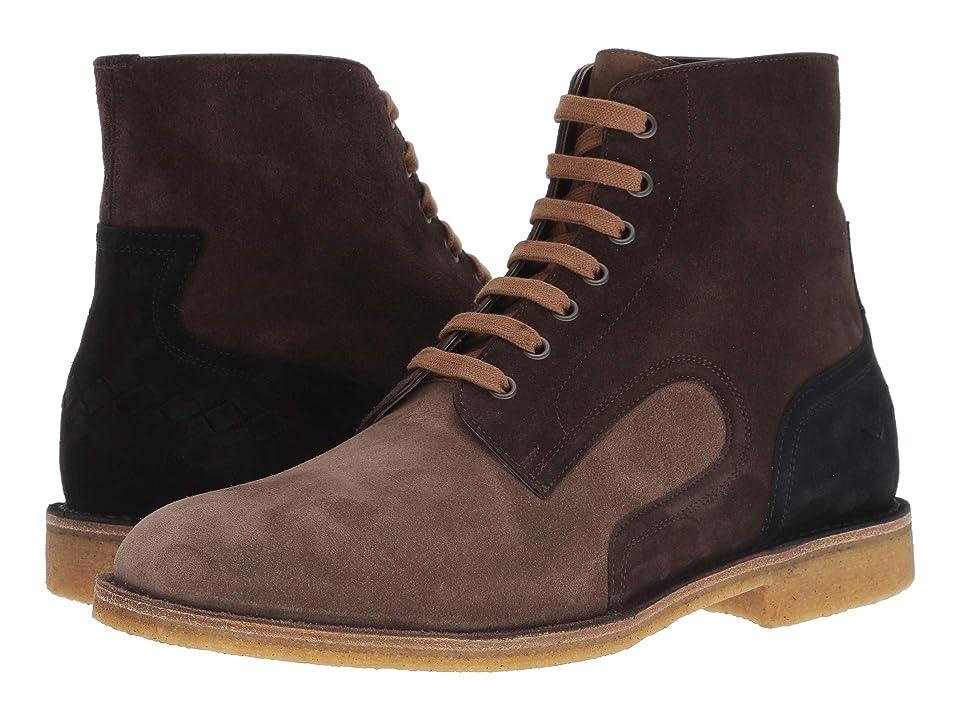 Bottega Veneta Voor Trekking Lace-Up Boot (Steel/Espresso) Men
