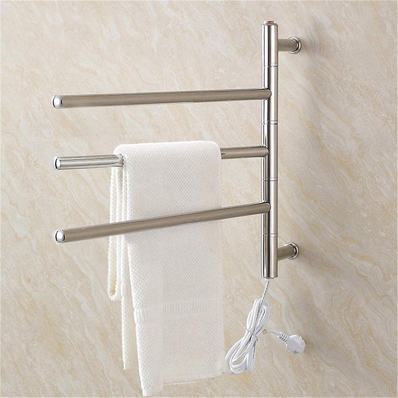 CAJOLG Towel Ranking TOP1 Warmer Electric Heated 180° Overseas parallel import regular item Rack Rotatable