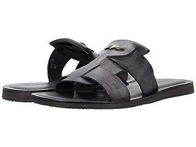 Massimo Matteo Two Band Slide Sandal (Black) Men