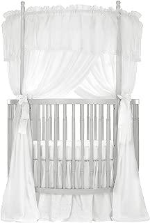 Dream On Me Sophia Posh Circular Crib, Silver Pearl