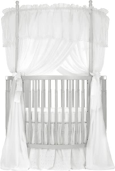 Dream On Me Sophia Posh Circular Crib Silver Pearl