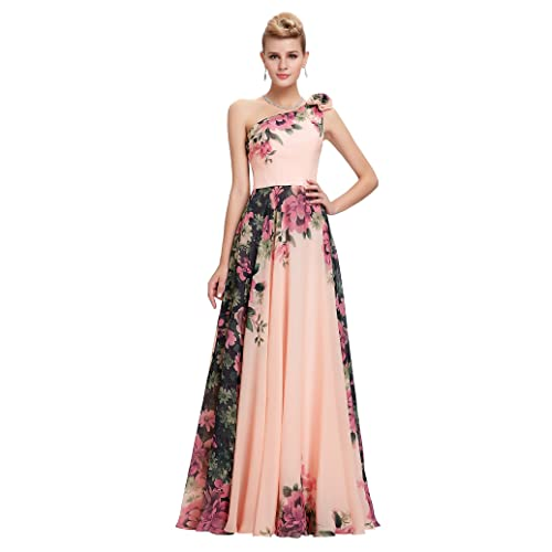 76c84bd9089 GRACE KARIN Floral Print Graceful Chiffon Prom Dress for Women  (Multi-Colored)