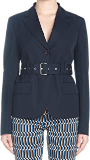 PRADA Luxury Fashion Womens P581GHS1911BMSF0124 Blue Blazer | Spring Summer 19