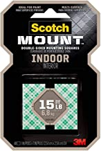 Scotch-Mount Indoor Double-Sided Mounting Squares 111H-SQ-48, 1 in x 1 in 48/pk