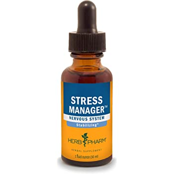 Herb Pharm Stress Manager Liquid Herbal Formula with Rhodiola and Holy Basil Liquid Extracts - 1 Ounce